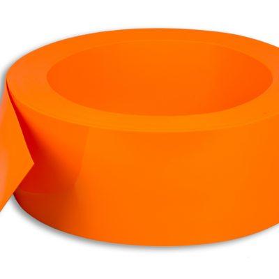 Měkčené PVC 200/2 mm oranžové