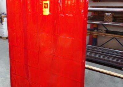 plachta svařovací - červená