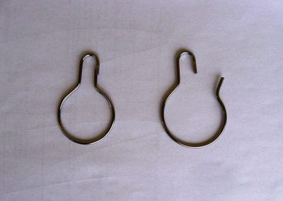 ocelové karabinky na PVC