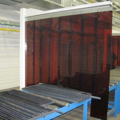 Lamelová clona - weld, bronzová, 300x2 mm, 35 % KRYTÍ