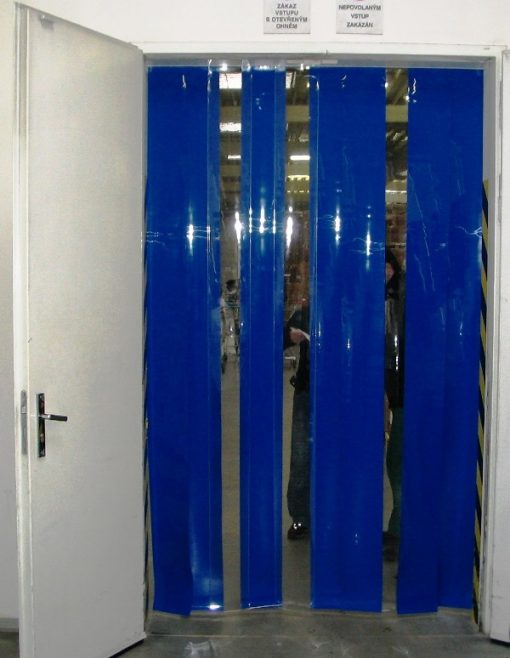 Lamelová clona modrá FB040, 200x2 mm, 35 % krytí