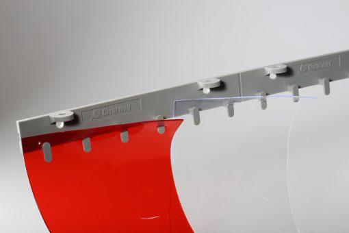 Lamelová clona s plastovou QM lištou, 200x2 mm, 0 % krytí