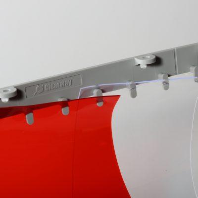Lamelová clona s plastovou QM lištou, 200x2 mm, 50 %