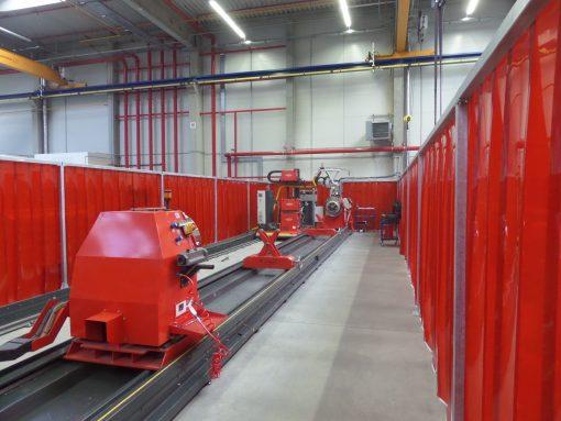 Lamelová clona - weld, červená, 300x2 mm, 35 % KRYTÍ